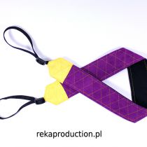 Pasek do aparatu Violet With Yellow